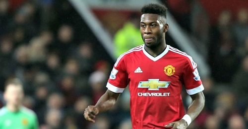 MANCHESTER, ENGLAND - MARCH 02:  Timothy Fosu-Mensah of Manchester United in action during the Barclays Premier League match between Manchester United and Watford at Old Trafford on March 2, 2016 in Manchester, England.  (Photo by Matthew Peters/Man Utd via Getty Images)